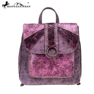 Montana West Embossed Collection Backpack